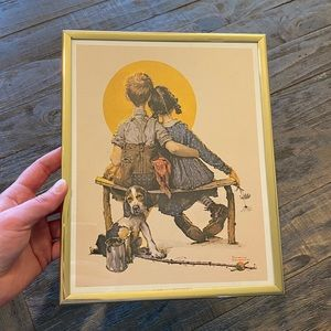 """Vintage Norman Rockwell """"First Love"""" Print"""